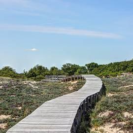 Laura Duhaime - Curved Boardwalk to the Beach