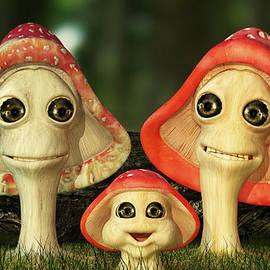 Liam Liberty - Cute and Whimsical Mushroom Family