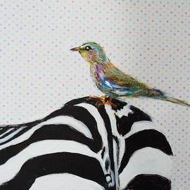 Linda Lin - Cute Bird with Zebra