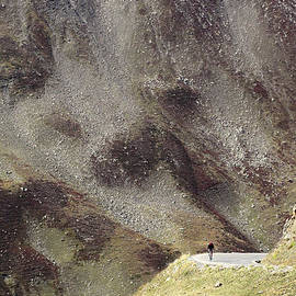 Colin Woods - Cyclist on the Col du Galibier