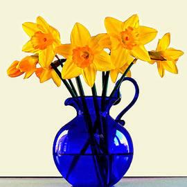 John Tidball  - Daffodils in a Blue Jug