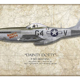 Craig Tinder - Dainty Dotty P-51D Mustang - Map Background