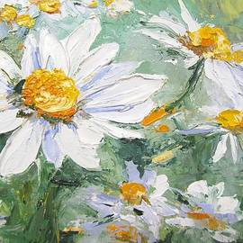 Chris Hobel - Daisy Delight Palette Knife Painting