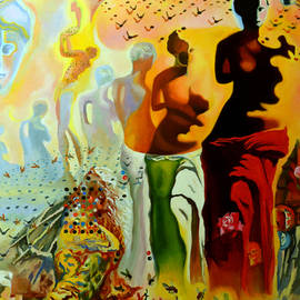 Mona Edulesco - Dali Oil Painting Reproduction - The Hallucinogenic Toreador