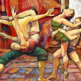 Alfons Niex - dance painting caravaggio