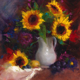 Talya Johnson - Dance with Me - sunflower still life