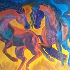 Candra Conner - Dancing  Horses