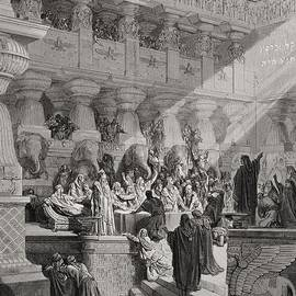 Gustave Dore - Daniel Interpreting the Writing on the Wall