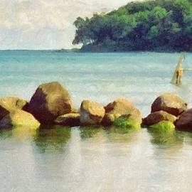 Jeff Kolker - Danish Coast on the Rocks