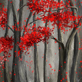 Lourry Legarde - Dark Passion- Red And Gray Art