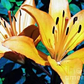Sarah Loft - Dark Yellow Lilies