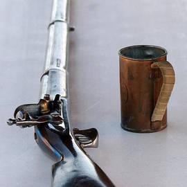 Davey Crockett Rifle and Copper Mug