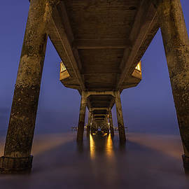 David Attenborough - Deal Pier At Night