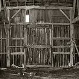 Thomas Woolworth - Decaying Interior of a Rustic Barn