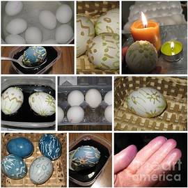 Ausra Paulauskaite - Decorate Easter Eggs With Wax and Cabbage Dye. Collage Series