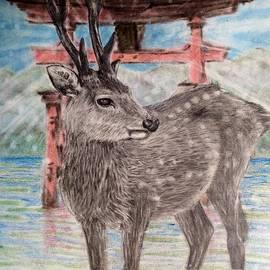 Keiko Olds - Deer in Miyajima Japan