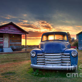 T Lowry Wilson - Delta Blue - Old Blue Chevy Truck in the Mississippi Delta
