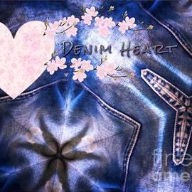 Joan-Violet Stretch - Denim Heart