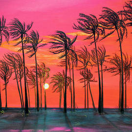 Asha Carolyn Young - Desert Palm Trees at Sunset