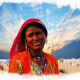 Sue Jacobi - Desert Woman Portrait India Rajasthan