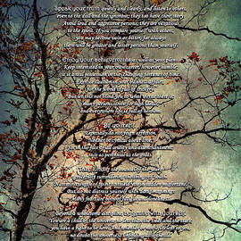 Christina Rollo - Desiderata Inspiration Over Old Textured Tree