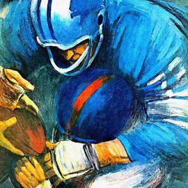 Big 88 Artworks - Detroit Lions 1966 Vintage Print