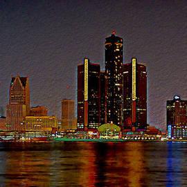 Fli Art - Detroit Skyline