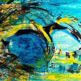 Nicole Philippi - Disarray in yellow and blue