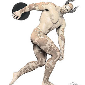 Joaquin Abella - Discus Thrower satyr By Quim Abella