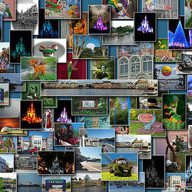 Thomas Woolworth - Disney World Collage Rectangle
