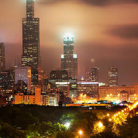 Gregory Ballos - Distant Lights - Chicago Illinois Skyline