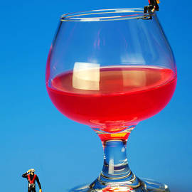 Paul Ge - Diving in red wine Little people big worlds