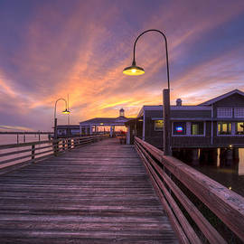 Debra and Dave Vanderlaan - Dock Lights at Dusk
