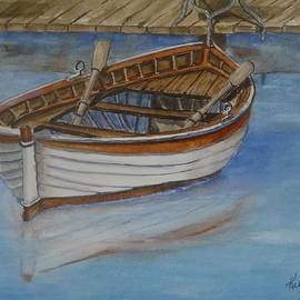 Kelly Mills - Docked Rowboat
