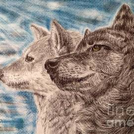 Keiko Olds - Dog and Wolf