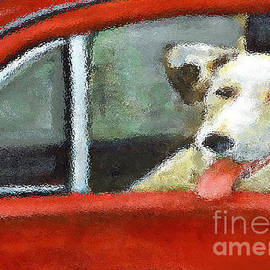Cecily Mitchell - Dog in Car