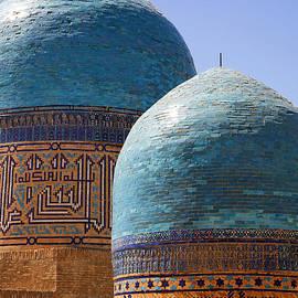Robert Preston - Domes at the Avenue of Mausoleums in Samarkand Uzbekistan