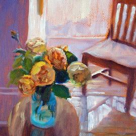 Bonnie Mason - Dormer Light- Morning Light and Roses