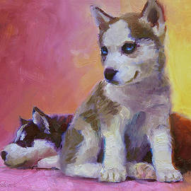 Karen Whitworth - Double Trouble - Alaskan Husky Sled Dog Puppies