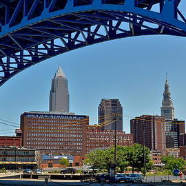 Frozen in Time Fine Art Photography - Downtown Cleveland Framed