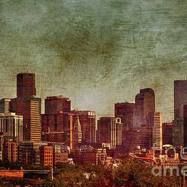 Janice Rae Pariza - Downtown Denver Antiqued Postcard