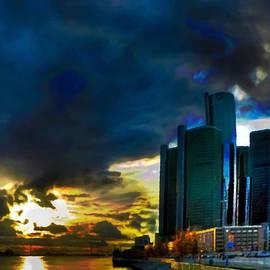 Fli Art - Downtown Detroit at Dusk
