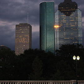 J BB - Downtown Houston at Sunset