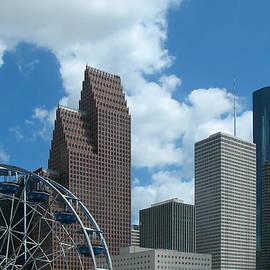 Connie Fox - Downtown Houston With Ferris Wheel