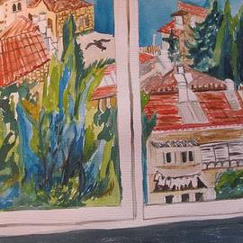Esther Newman-Cohen - Downtown Jerusalem Through a Window
