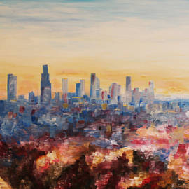 M Bleichner - Downtown Los Angeles at Dusk