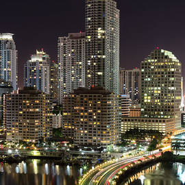 Andres Leon - Downtown Miami from Brickell Key