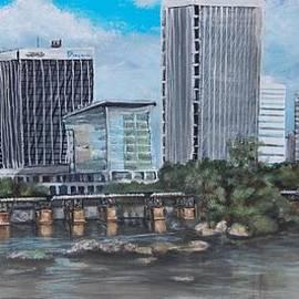 Katie Adkins - Richmond VA skyline from overtop of the James River