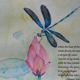 Vidya Vivek - Dragonfly and lily