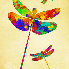 Christina Rollo - Dragonfly Watercolor Art